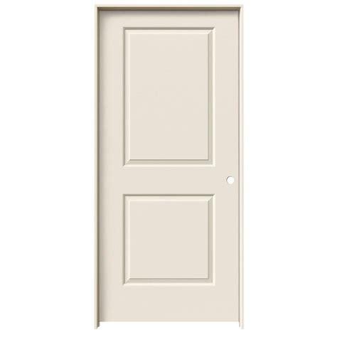 30 X 78 Prehung Interior Door Jeld Wen 32 In X 78 In Cambridge Primed Left Smooth Molded Composite Mdf Single Prehung