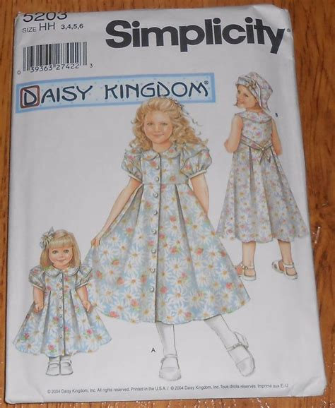 pattern sewing buy simplicity sewing pattern 5203 daisy kingdom girl size 3 4