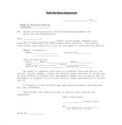vehicle repossession letter template hold harmless agreement 29 documents in pdf