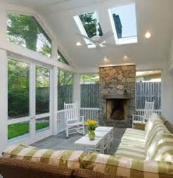 Sunroom with open fireplace love this idea the room can then be used