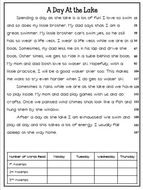 printable leveled reading fluency passages free first grade reading fluency passages reading a z