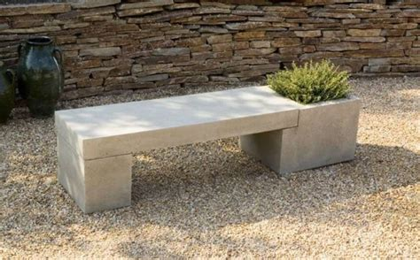 cement benches for gardens concrete garden benches with planter eye catching