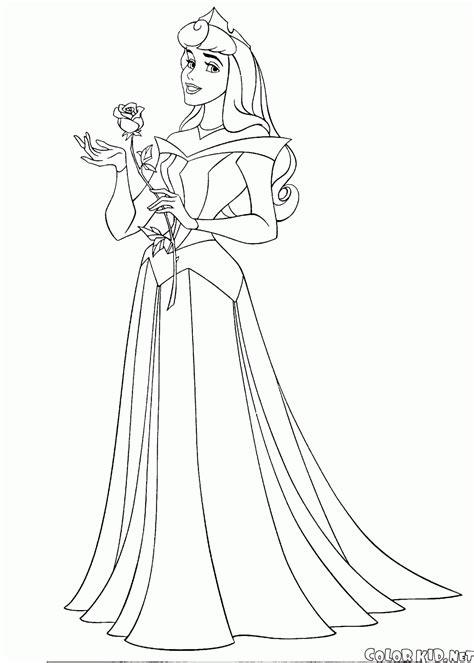 Disegni Da Colorare Ritratto Di Una Principessa