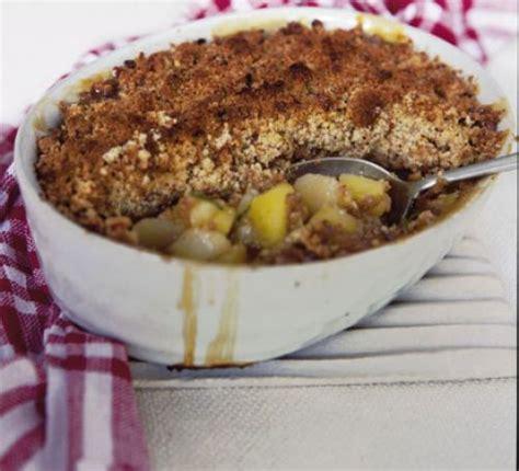 apple pear crumble apple pear walnut crumble recipe bbc good food