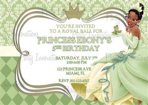 princess and the frog invitations printable free printable princess and the frog birthday invitations