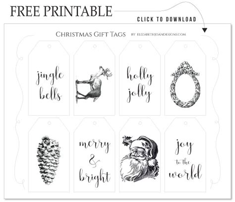 minute friday vintage christmas gift tags elizabeth joan designs