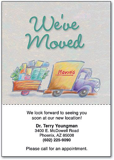 we moved cards template simple ideas we moved postcards modern designing