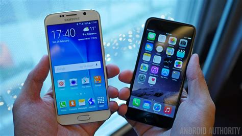 Samsung S6 Vs Iphone 6 samsung vs apple android authority