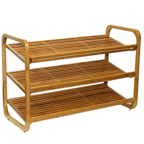 oceanstar 3 tier stackable bamboo shoe rack 7252467 hsn
