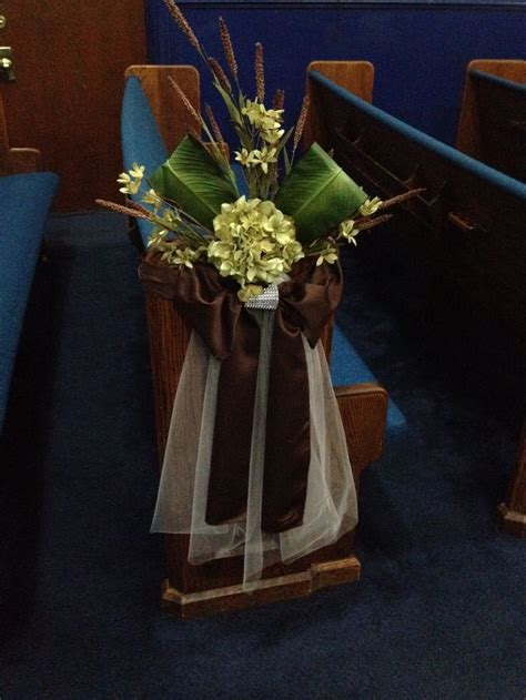 fall pew decorations for weddings 17 best images about church wedding decorations on