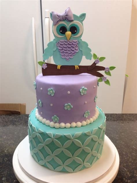 Owl Baby Shower Cakes For A by Owl Baby Shower Cake Cake By Melanie Mangrum Cakesdecor