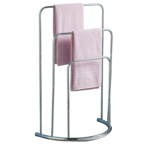 towel holder stand three tier free standing bathroom rail