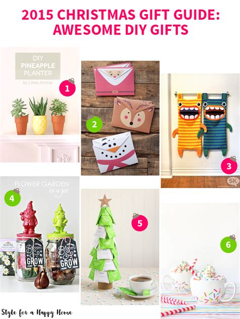 2015 christmas gift guide awesome diy gifts style for a