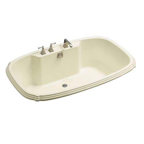 kohler portrait 5 5 ft center drain drop in bathtub in