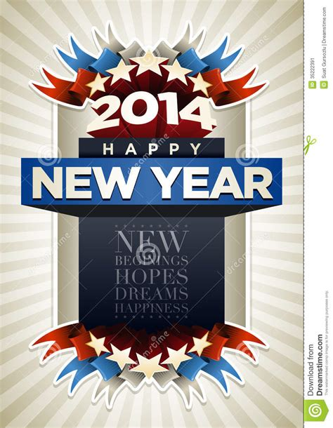 design poster new year 2014 poster stock vector image of dream concept