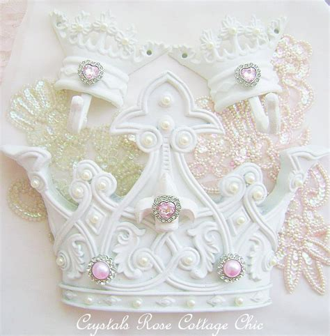 shabby chic bed crown canopy set crown wall decor crown hooks