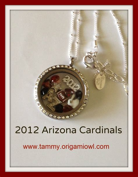 Origami Owl Az - arizona cardinals origami owl locket www tammy origamiowl