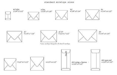 25 best ideas about standard envelope sizes on size paper dimensions