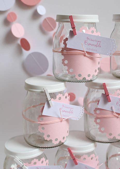 que puedo hacer con frasquitos de vidrio para un baby shower souvenirs con frascos de yogurt bautismos papeles