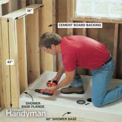 stand up shower installation how to install a stand up shower base free