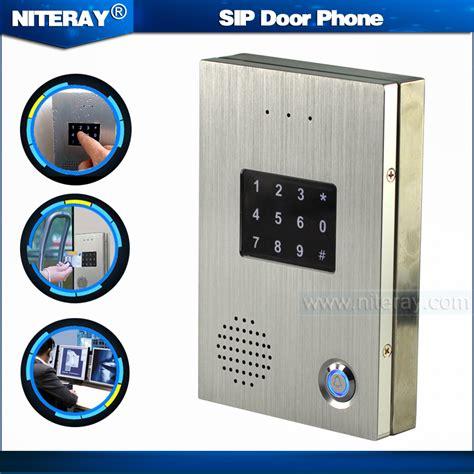 intercom with sip door phone with touch keypad door intercom bell for
