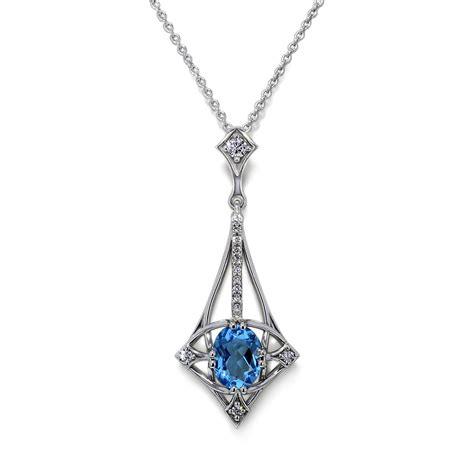 designer blue topaz necklace jewelry designs