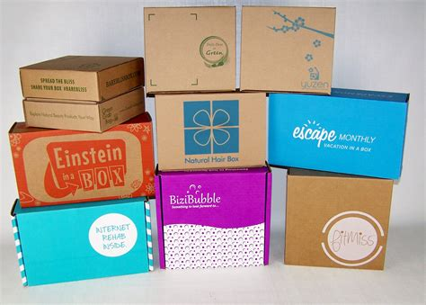 box subscription stickers versus custom packaging