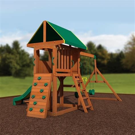 Somerset Wooden Swing Set Playsets Backyard Discovery Backyard Wooden Swing Sets