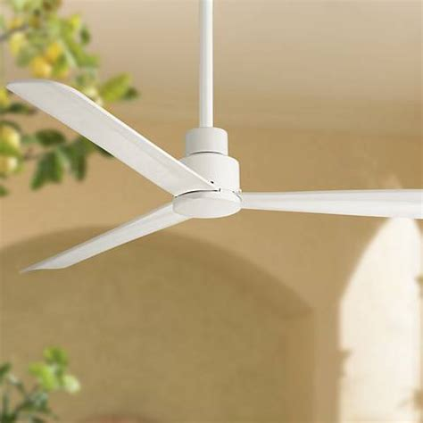 minka aire simple ceiling fan 52 quot minka aire simple white outdoor ceiling fan 9g066