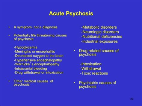 The Diagnosis Of Psychosis gemc acute agitation resident