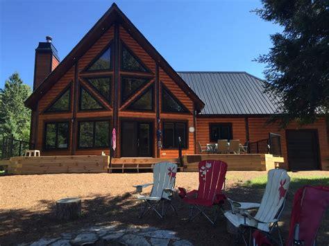 new large cozy lakefront log cottage in muskoka