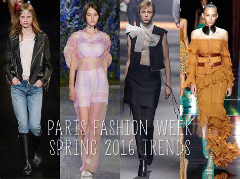 popular trends 2016 paris fashion week spring 2016 trends