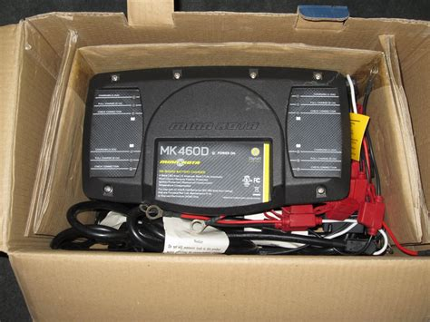 marine battery charger 60 new minn kota mk460d 4 bank on board boat battery charger