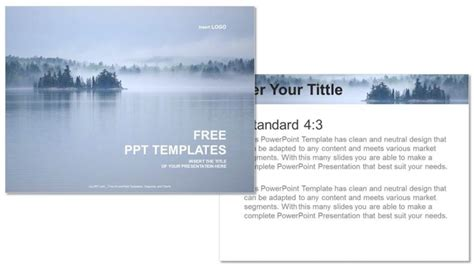 powerpoint layout view beautiful lake view nature ppt templates