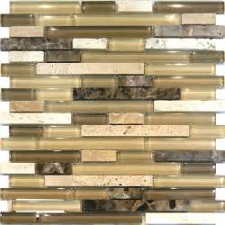 Sample Backsplashes For Kitchens by Sample Travertine Emperador Amp Glass Brown Beige Mosaic