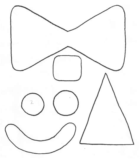 clown mask template best photos of clown template circus clown