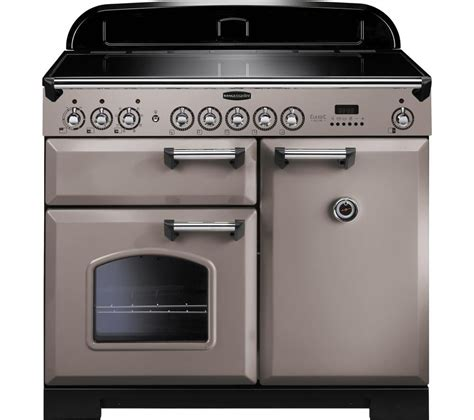 induction or electric range buy rangemaster classic deluxe 100 electric induction range cooker latte chrome free