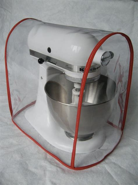 CLEAR MIXER COVER fits KitchenAid Tilt Head ? RED trim (4