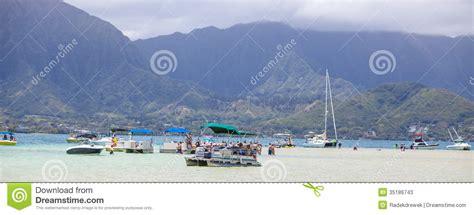 sailboats oahu kaneohe bay sandbar editorial stock photo image 35186743