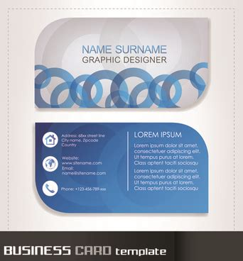 rounded business card template business cards template free vector 31 715