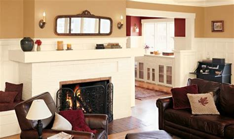 shown in valspar eddie bauer bungalow gold craft white and crimson mission style living