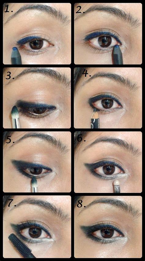 black eyeliner tutorial video eye makeup tutorial winged smudged eye liner beauty
