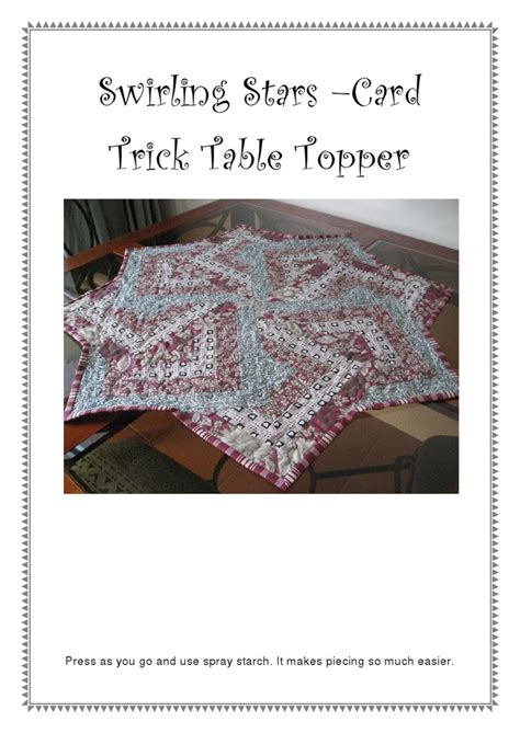 10 Best Images About Card Trick Quilting Pattern On Pinterest Neutral Colors Quilt And Tutorials Table Topper Template
