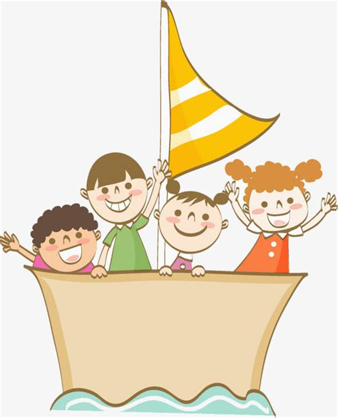 boat drawing in cartoon boat kid boat clipart cartoon hand drawing png image and