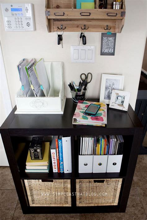 entryway organization budget friendly family command center