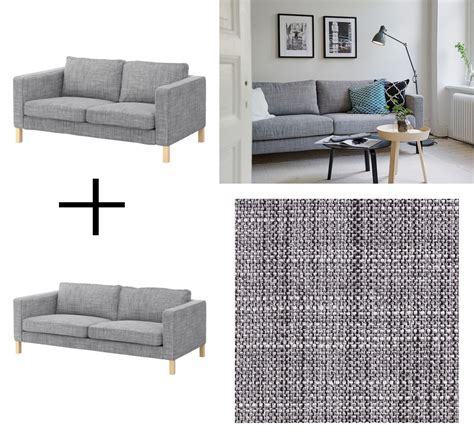 Karlstad Sofa Isunda Grey by Karlstad Sofa And Loveseat Slipcover Cover Isunda