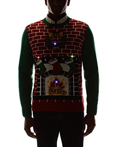 Sweaters Light Up by Fireplace Is Lit Light Up Sweater