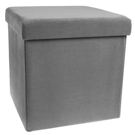 footrest ottoman storage ottoman cube folding fabric square foot rest