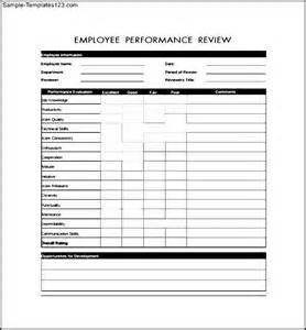 employee review form template exle for employee review form sle templates