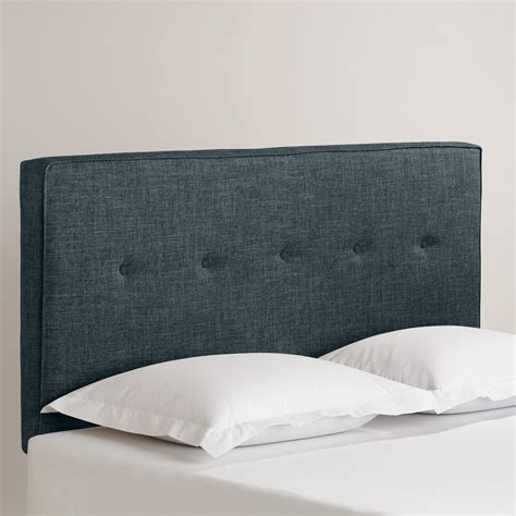 linen headboards linen donnon upholstered headboard world market